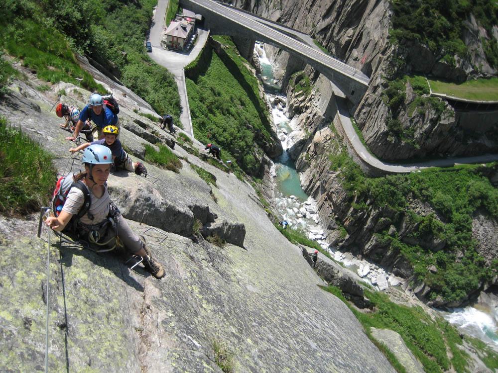 Klettersteig Diavolo : Mit kindern auf den klettersteig u dav sektion lahr